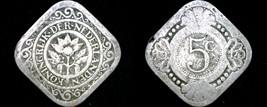 1914 Netherlands 5 Cent World Coin - $6.99