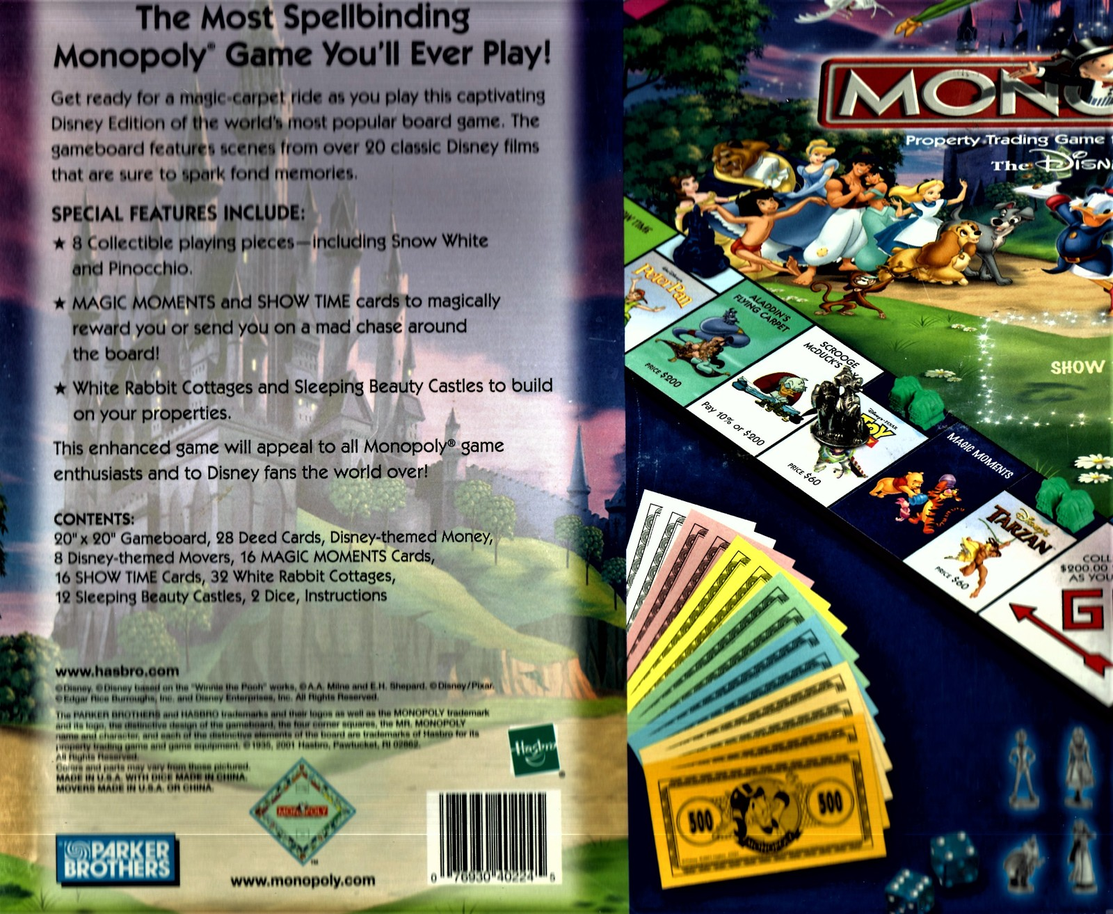 Monopoly -The Disney Edition - Property Trading Game From Parker Brothers -2001 image 2