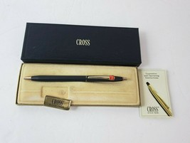 Vintage CROSS Black Ink Pen w/ Advertising COCA-COLA Logo w/ Box & Booklet - $89.09