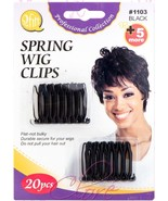 Qfitt Spring Wig Clips Hook Extension Durable Holder Hair Comb 20pcs #11... - $4.94