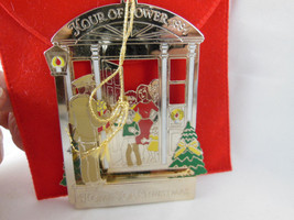1991 Hour Of Power ROBERT SCHULLER Ornament Crystal Cathedral Gold o Bra... - $9.89