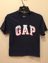 Gap Kids TShirt Dark Blue with Patriotic Emblem Boys Size Medium - $3.92