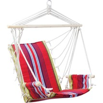 Club Fun™ Cushioned Hanging Rope Chair with Arm Rests  - $49.95