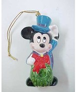 1988 Schmid Walt Disney Mickey Mouse as Bob Cratchit Ceramic Christmas O... - $6.99