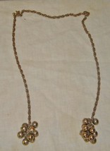Vintage brass colored sweater clips sweater chains  image 1