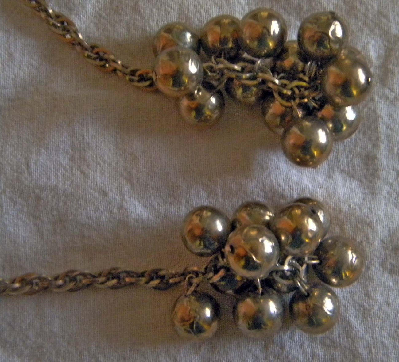 Vintage brass colored sweater clips sweater chains  image 2