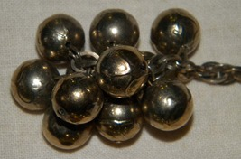 Vintage brass colored sweater clips sweater chains  image 3