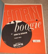 Horn Boogie Sheet Music - 1953 - Piano Solo - $5.99