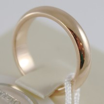 SOLID 18K YELLOW GOLD WEDDING BAND UNOAERRE RING 7 GRAMS MARRIAGE MADE IN ITALY image 2