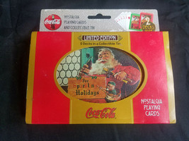 Vintage Collectible Coca Cola Santa Limited Edition 2 Decks Playing Card... - $7.83