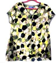 Simply Vera Wang Knit Tunic Top XL Multicolor Yellow Purple Blue  NWOT C... - $28.00
