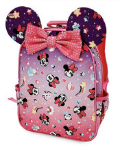 NWT Disney Store Minnie Mouse Girls Backpack Pink 3D Ears Now Unicorns Stars - $31.67