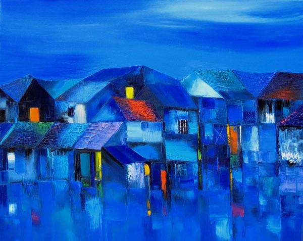 63 blue evening