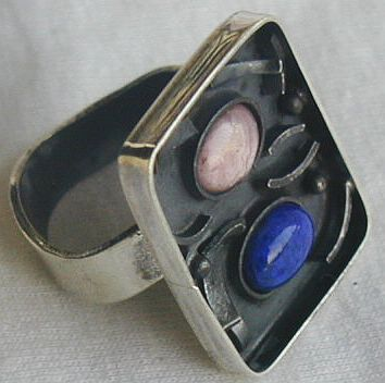 Primary image for  oxidized pink and blue ring