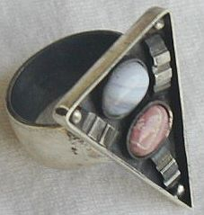 oxidized  pink and  light blue ring A