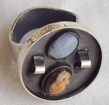 Oxidized  orange and  light blue ring b thumb200