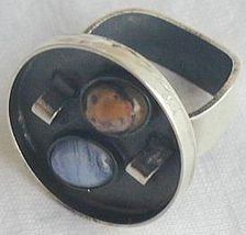 Oxidized  orange and  light blue ring b 1 thumb200
