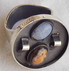 oxidized  orange and  light blue ring B