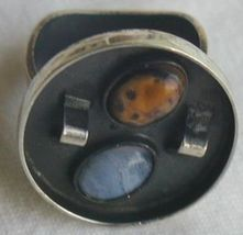 Oxidized  orange and  light blue ring b 3 thumb200