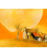 Yellow Autumn, a 24 x 32 commission original oil painting on canvas by P... - $199.00