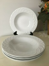 Picnic by Oneida Rimmed Soup Bowl Set of 4 Excellent unused condition - $18.80