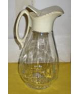 Syrup Pitcher - VINTAGE GLASS LOG CABIN SYRUP PITCHER  - $8.95