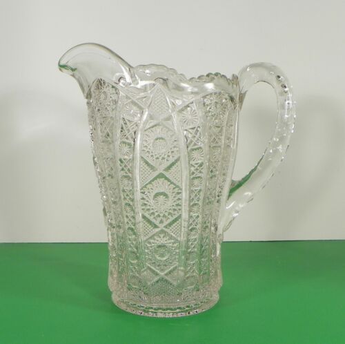 Imperial Vintage Glass DAISY AND BUTTON Water Pitcher Set with 7 Tumbler (s) image 3