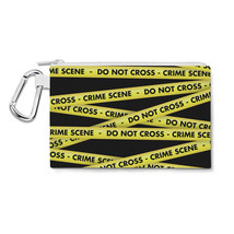 Crime Scene Tape Canvas Zip Pouch - $15.99+