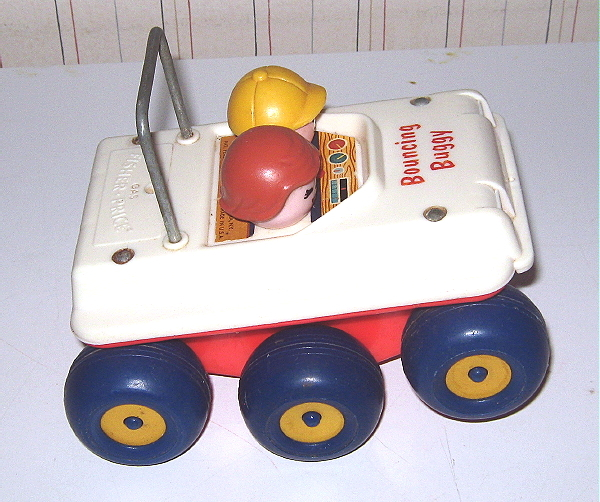 Vintage Fisher Price Bouncing Buggy #122 - EXC Condition
