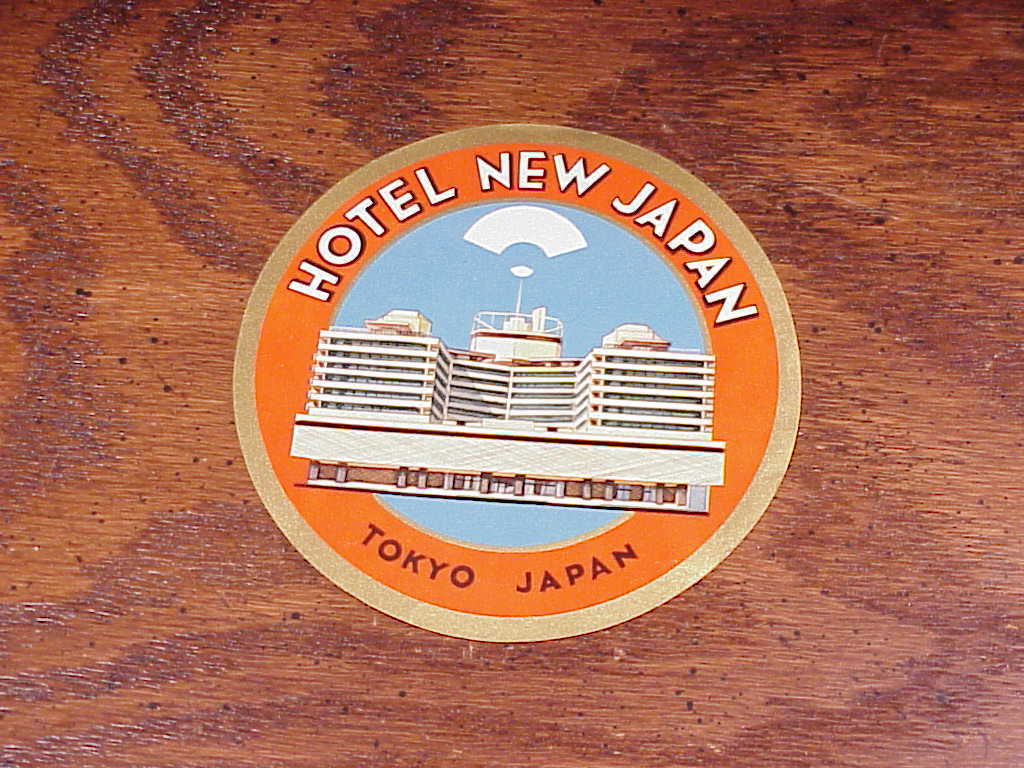 Hotel New Japan Luggage Label, Tokyo