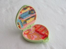 Vintage 1989 Polly Pocket Pony Club Compact Bluebird Green Heart Case Only - $9.99