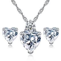 Moonso 925 Sterling Silver Jewelry SET for women wedding bride fashion Stud  Ear - $14.87