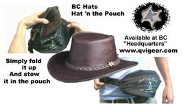 Bc hats 6702 hat n the pouch treated leather demo 400 227 thumb200