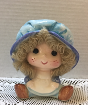 Vintage Ardco Fine Quality Dallas Yarn Haired Girl Planter Nursery Decor - $9.50