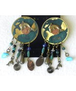 Drop Earrings American Indian Style and Color Made in USA - $14.99