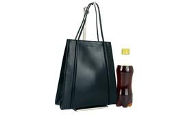 Authentic SALVATORE FERRAGAMO Black Leather Hand Bag Purse Small Bag Vin... - $197.01