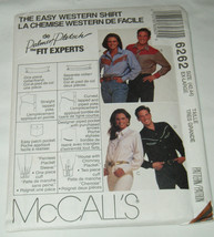 McCall's 6262 Misses' Mens' Western Cowboy Cowgirl Rodeo Shirt Pattern 42-44 image 1
