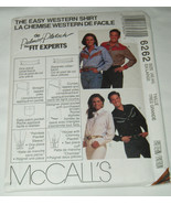 McCall's 6262 Misses' Mens' Western Cowboy Cowgirl Rodeo Shirt Pattern 4... - $9.95