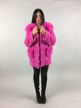 Luxury gift/Pink Mink Saga   Fur Coat /Fur jacket/ Wedding,or anniversar... - $1,650.00