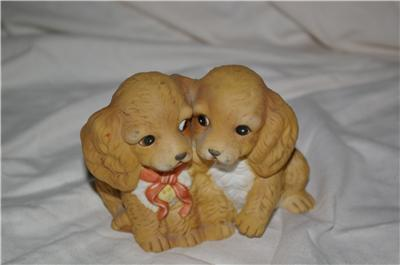 Homco Masterpiece Spaniel Puppies Home Interiors