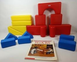 Lot of 17 Little Tikes Plastic Jumbo Large Building Shape Blocks  - $19.99