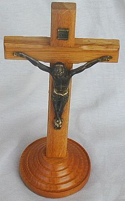 Oak wood cross from the holy land