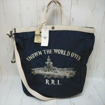 DOUBLE RL RRL RALPH LAUREN Auth 100% Nylon Market 2Way Tote Bag Navy New... - $525.99