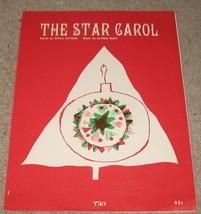 The Star Carol Sheet Music - 1957 - $8.99