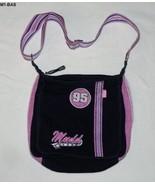 Mudd Girls Blue Denim and Pink Purse Bag - $11.99