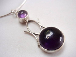 New Wickedly Designed Amethyst Silver Pendant India - $15.05