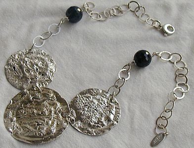 Armenian silver necklace 3rounds