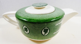 VTG by Royal China Colonial Homestead green teapot with lid - $51.48