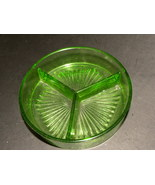 Depression Glass Divided Candy Dish Green - $25.00