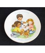 Avon Mothers Day Collector Plate Vintage 1989 Kids Dog Bath Loving Is Ca... - $7.95